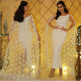 Wholesale Dresse Party - Exquisite Arabic Dubai Style Ankle Length Mother Dresse with Long Capes Vestido de Feista 2017 Formal Party Evening Prom Gowns Custom Made