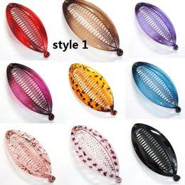 Wholesale Banana Fish - 13 colors Vintage Banana Fish Hair Clips Barrette Comb Ponytail Holder Accessories 50pcs