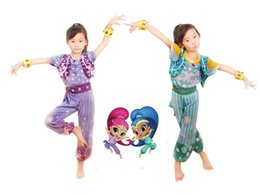 Wholesale Shimmer Dresses - Shimmer costume Dress Up Set School Costume mascot Girls Outfit shimmer costume Halloween