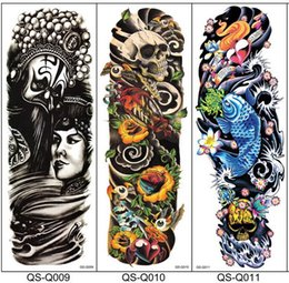 Wholesale Men Eagle Tattoo - Body Art Body Stickers Arm Shoulder Make Up For Man Women Temporary Tattoo - Buddha, Elephant, Eagle eye, Fish, Beauty and the Beast Etc
