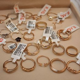 Wholesale Fingers Crossed - Brand New Fashion Jewelry Gold & Silver Plated Cross Rings for Women Female Party Finger Ring