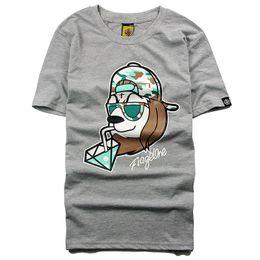 Wholesale Lion Head Men T Shirts - Original tide brand men and women camouflage lion head short-sleeved T-shirt high street dark death fly hip-hop skateboard short T-shirt