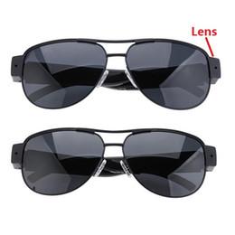 2019 câmera dvr de óculos de sol Óculos de sol câmera Full HD 1080 P Óculos Eyewear DVR pinhole camera gravador de vídeo de áudio mini filmadora Esportes DV câmera dvr de óculos de sol barato