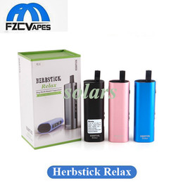 Wholesale Temperature Controlled - Authentic Herbstick Relax Kit 2800mAh Temperature Control Dry Herb Vaporizer Mod Herbal Pen Kit 3 Colors 100% Original