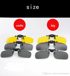 Wholesale Clip Glasses Night - High Quality Flip Up UV400 Clip On Sunglasses Sports Driving Night Vision Lens Sun Glasses Anti-UV Women Men