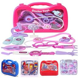 El pequeño juguete de los niños, el médico, los juegos de juguetes en el hogar al por mayor, la simulación, la caja médica, la caja de herramientas de atención médica, el juego de simulación, 5 estilos, envío libre mixto desde fabricantes