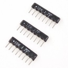 Wholesale Array Networks - Wholesale- D161-07 Free shipping 50pcs DIP exclusion 8pin 10K ohm Network Resistor array
