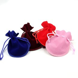 Wholesale Velvet Bags Multi Color - Jewelry Calabash Drawstring Velvet Jewelry Bag Gift Bag Gourd Gift Packing Pouch 7*9cm Size Multi-color optional
