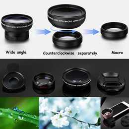 Wholesale Wholesale Special Effects - 49mm 0.45X Super Wide-angle + Macro Lens Mobile Phone External Camera for iPhone 2 in 1 Special Effects Shots Cell Phone Lens