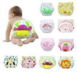 Wholesale Toddler Cloth Nappies - Animal Lion Frog Baby Diapers Reusable Nappies Cloth Diaper Washable Infants Toddler Baby 3 Layers Cotton Diaper Nappy
