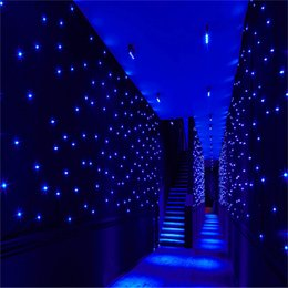 Wholesale White Star Blue Background - 4mx6m Blue-white LED Star Cloth for Stage Wedding Decoration DMX Control Concert background decoration LED lighting