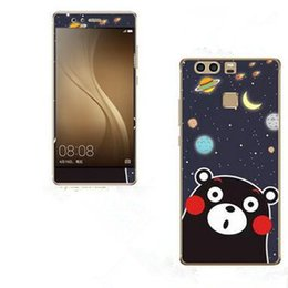 Wholesale Huawei Phone Cartoon Case - For Huawei P9 tempered glass Scratch Proof film + PC Painting phone case with six cute cartoon style