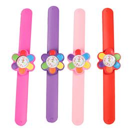 Wholesale Red Slap Watch - Children Watch Digital Slap Watch Cute Flower Slap Watches for Kids Flap Ring Watch for Baby Girl Boy Gift Toy