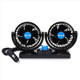 Wholesale 12v Fan Car - Adjustable 360 Degree Rotating 2 Gears Car Fan 12V Mini Summer Air Cooling Fan for truck lorry SUV excavator Tractors Forklift bulldozer