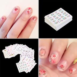hotfix de pérolas Desconto 50 pcs Borboleta Prego Etiqueta Wraps Flor Nail Art Stickers Polonês Watermark Prego Adesivos