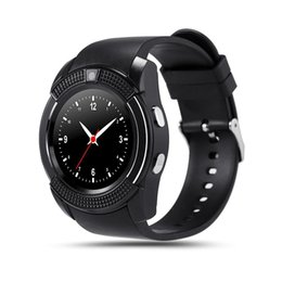 Wholesale New Wrist Mobile Phone - 2017 New Arrival V8 Watch Mobile Phone Bluetooth 3.0 IPS HD Full Circle Display Smartwatch OGS SIM TF Card VS GT08 A1