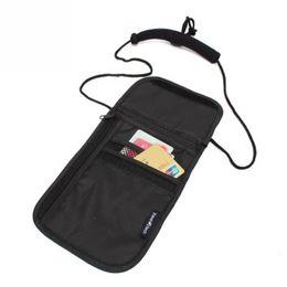 Wholesale Neck Coin Pouch - Wholesale- Money Document Card Passport Pouch Holder Security Under Clothes Neck Wallet
