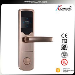 Wholesale Rf Door Locks - RF Card Hotel Lock Digital Promotion Intelligent Electronic RFID Card Door Lock with Key for Hotel Home Apartment Office