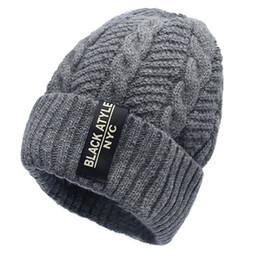 790f5bb29a5 2017 Men Fashion Warm Knit Beanie Hood Male Korean Style Cool Winter Plus  Thickening Inside Warm Hat Outdoor Skull Caps