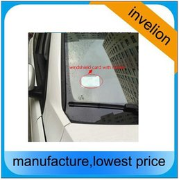 Wholesale magnetic access control - Wholesale- access vehicle car control 10M long read range uhf rfid sticker tag 860-960MHZ windshield passive labels 45 * 110 * 0.3 MM