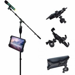 Wholesale Apple Ipad Mic - 360 Degree Swivel Adjustment Music Mic Microphone Stand Tablet Holder Mount Holder for Apple ipad Samsung Google Tablet PC