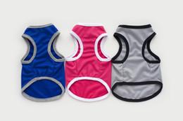 Wholesale Dog Cooling Vests - New Fashion Sports dog clothes costume Yorkshire Chihuahua pet dog clothing cool dog shirt vest S-XXL