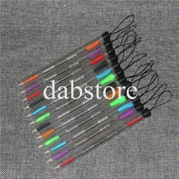 Wholesale Tube Pick - 120mm Dab Wax Pick Tool Metal Steel Dabbers Concentrate Dabbing tool dabber tool E Dab Nails with Silicone Tips and Individual Package Tubes