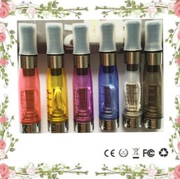 Wholesale Ce4 Leak - CE4 Atomizer 8 available colors 1.6ml 2.4ohm 4 wicks no leak math with eGo e-cig battery CE4 Clearomizer