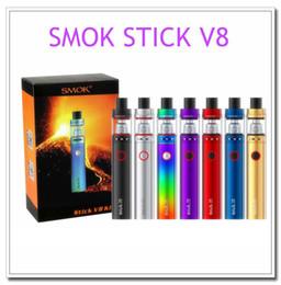 Wholesale Ecig Kits - SMOK Stick V8 Starter Kit with 5ml TFV8 big baby 3000mAh battery 0.3ohm V8 Baby M2 dual Core Vape Ecig Kit