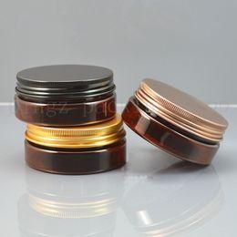 40pcs 50g marron petite bouteille de crème ronde bocaux pot contenant vide cosmétique récipient en plastique pour échantillon pour le stockage de l'art de l'ongle ? partir de fabricateur