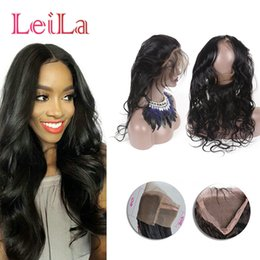 Wholesale Baby Hairline - Indian Pre Plucked 360 Lace Frontal Body Wave with Baby Hair Natural Hairline 360 Lace Frontal Closure Unprocessed Human Hair Weave
