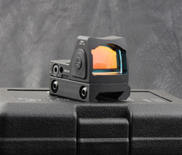 Wholesale Trijicon Style - Hunting shooting Trijicon rmr style 1x red dot sight scope for picatinny rail and glock base mount Key switch black M6293