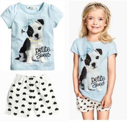 Wholesale Next Sets - Cotton Blend Summer Baby Girls Clothes set T-shirt + Pants Cotton Suit Children Set Kids babysuit Bebe Next Infant Clothing