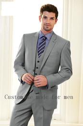 Wholesale Groom Suits For Beach Wedding - Wholesale- New 2016 Beige Men Suits Beach Wedding Tuxedos For Men Custom Made Mens Wedding Suits Groom Suit Groom Tuxedo Bridegroom