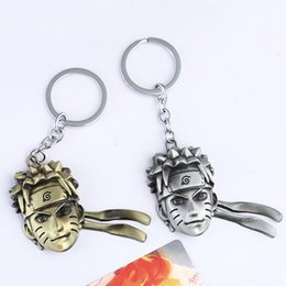 Wholesale Toy Classic Car Collection - Naruto Figure Keychain Keyring Bag Pendants - Japanese Anime Uzumaki Naruto Metal Head Portrait Collection Toys - Jewelry Souvenir