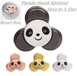 Wholesale Hybrid Toys - Panda Ceramic Hybrid Bearing Hand Spinner Toy Kirsite EDC Fidget Toy For Autism and ADHD Stress Panda Spinner Toy Ship in 1 Day
