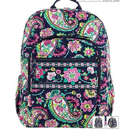 Wholesale college cotton fabric - Cotton Flower School Bag Campus Laptop Backpack School Bag Travel College 100% real