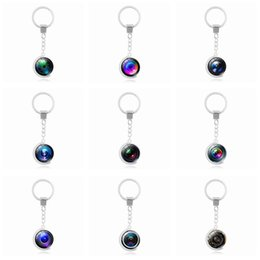 Wholesale ceramic camera - Brand new Rotary Globe Camera Lens Time Gemstone Keychain Pendant Alloy Key Ring KR167 Keychains mix order 20 pieces a lot