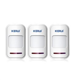 Wholesale Alarm Sensors Contacts - LS111-3PCS LOT!!! KERUI 433Mhz Wireless Intelligent PIR Motion Detector Door Sensor remote For 8218G G18 G19 Home Alarm System