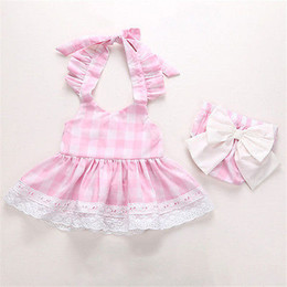 Wholesale Baby Wedding Dress Months - Summer 2017 Flower Girl Princess Dress Kid Baby Party Wedding Pageant Formal Dresses Clothes Baby girls clothing