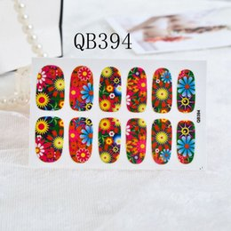 Wholesale Nail Stickers Solid - New 4 Color Nail Stickers All Stickers Decals Decorative Velvet Powder Solid Color Nails Art Paste French film Factory Sweet Style