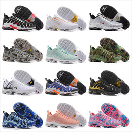 Wholesale Plus Sales Rubbers - 2017 New TN Running Shoes Men Women Cheap Air Cushion PLUS Ultra Sports Shoes Hot Sale Top Quality Breathable Sneakers Size 36-46