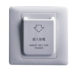 Wholesale Hotel Key Cards - 10pcs 86X86mm High Grade Hotel Magnetic Card Switch 220V 25A ,energy saving switch,Insert Key for power,without time delay