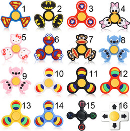 Wholesale Silica Metal - new design Silica Gel EDC Fidget Spinner Toy Hand Tri Spinner HandSpinner EDC Toys New Metal Fidget Spinners