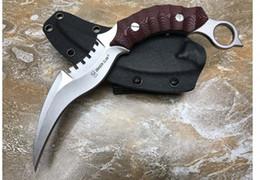 Comprar cuchillos online-G10 Dragon Talons Garra Karambit tácticas de autodefensa al aire libre que luchan cuchillos envío gratis Bienvenido a comprar regalo de Navidad para el hombre 1pcs