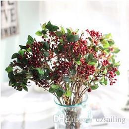 Wholesale Sprays For Flowers - Artificial berry fruit 22'' foam Berry spray 9 colors silk flowers artificial decorative flowers for home wedding market decoratio