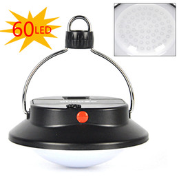 Wholesale Wholesale Battery Operated Lanterns - Wholesale-60 LED Portable Outdoor Indoor Camping Lantern Tent Light Campsite Hanging Lamp 1x18650 3xAAA Battery operated