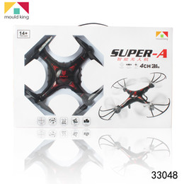 Wholesale Uav Helicopter Camera - Wholesale RC Helicopter Toys Four - axis Aircraft Remote Control Without A Lliquid Crystal Display Cameras UAV 33048 360Flips