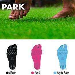 Wholesale Wholesale Shoe Pads - 3 Colors Summer Nakefit Soles Invisible Beach Shoes Nakefit Foot Pads Nikefit Prezzo Nakefit Beach Feet Pads 2pcs lot CCA6416 500lot