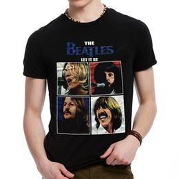 Wholesale Beatles Clothes - 2017 Fashion streetwear men's 3D Metal Rock The Beatles Bells Skulls t-shirt black short sleeve clothes t shirt loose fit Tops BMTX35 F